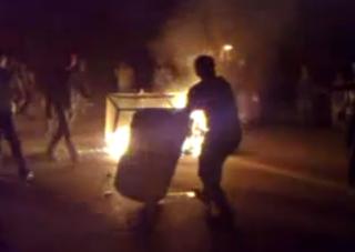 Bushehr fire protest 2011